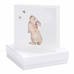 Boxed Bertie Bunny Earring Card