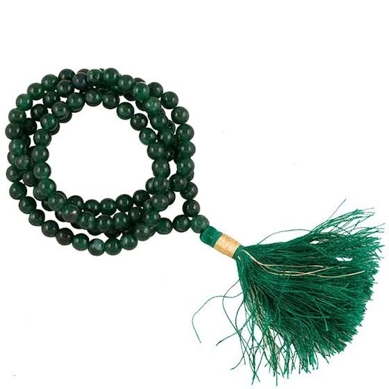 Mala Aventurine Aa Quality 108 Beads + Brocade Bag