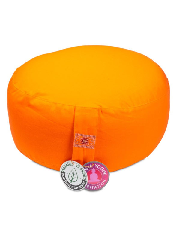 Meditation Cushion Orange Organic Cotton