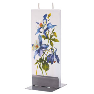 Rocky Mountain Columbine Flat Candle