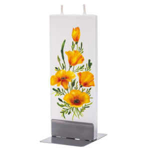 Yellow Hibiscus Flat Candle