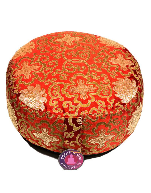 Meditation Cushion Lotus Design Red