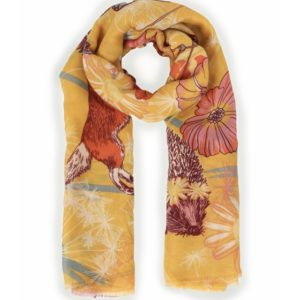 Yellow Scarf With Birds
