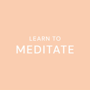 20200723 Learn To Meditate