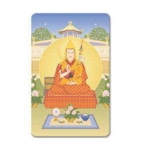 Geshe Kelsang Gyatso With World Peace Temple Minicard
